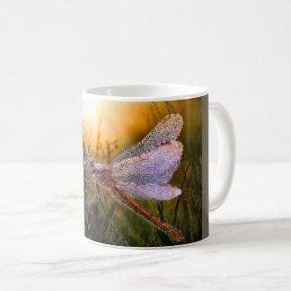 Morning Dew on Dragonfly Coffee Mug