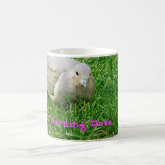 morning dove classic white coffee mug