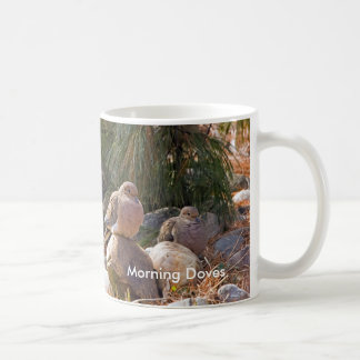 Morning Doves Classic White Coffee Mug