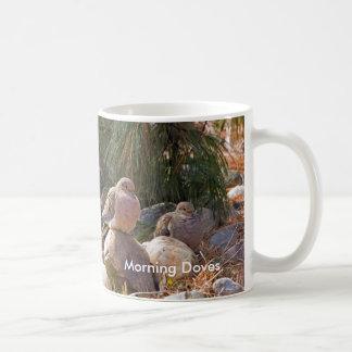 Morning Doves Classic White Coffee Mug