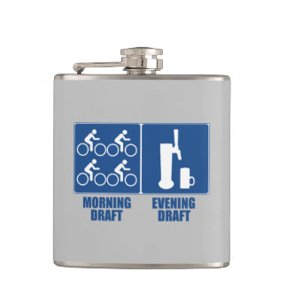 Morning Draft, Evening Draft Hip Flask