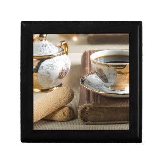 Morning espresso and cookies savoiardi gift box