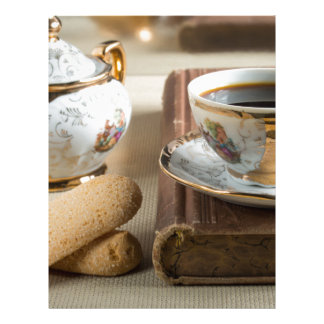 Morning espresso and cookies savoiardi letterhead