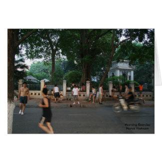 Morning Exercise * Hanoi Vietnam Card