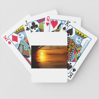 Morning Fire Bicycle Playing Cards