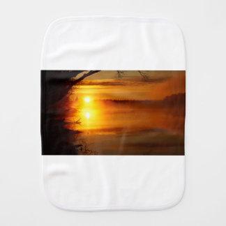 Morning Fire Burp Cloth