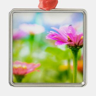 Morning flowers metal ornament