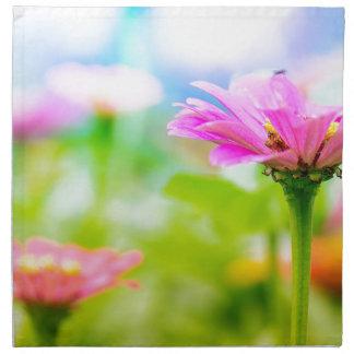 Morning flowers napkin