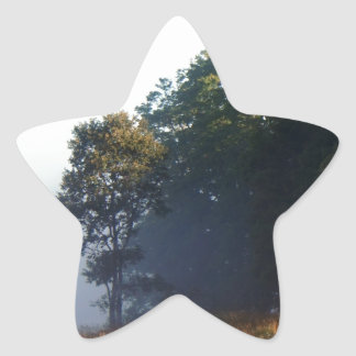 Morning Fog lifting Star Sticker