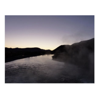 Morning Fog on the Jackson River at Grand Teton Postcard