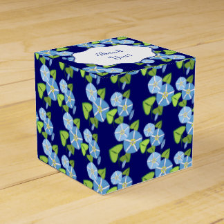 Morning Glories Abstract Pattern Favor Box