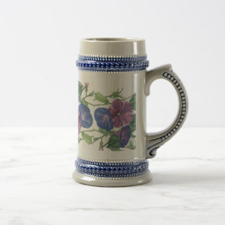 Morning Glories Beer Stein