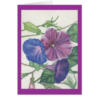 morning glories card