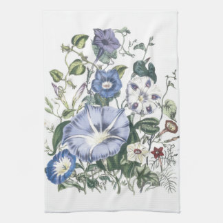 Morning Glories Floral Kitchen Towels