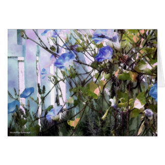 Morning Glories Pocket Garden Card