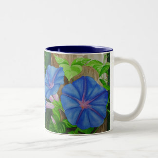 Morning Glories Two-Tone Coffee Mug
