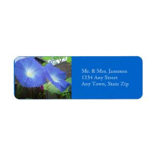 Morning Glory Address Label