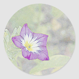 Morning Glory Classic Round Sticker