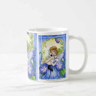 Morning Glory Fairy and Birman Cat mug