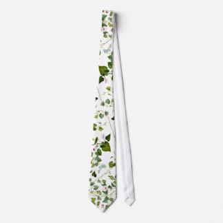 Morning Glory Floral Leaves Vine Botanical Tie