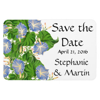 Morning Glory Flowers Floral Save the Date Magnet