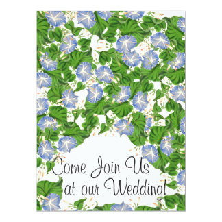 Morning Glory Flowers Floral Wedding Invitations