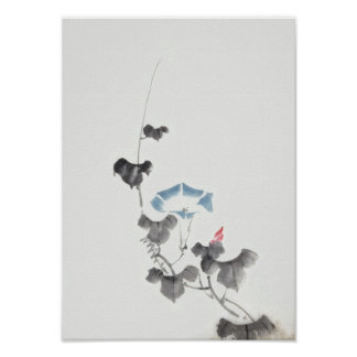 Morning Glory Hokusai Japanese Fine Art Poster