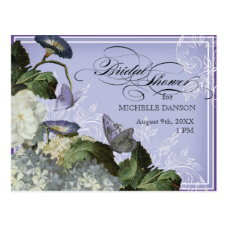 Morning Glory Hydrangea -  Bridal Shower Postcard