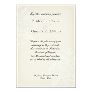 Morning Glory Hydrangea Wedding Invite Lavender