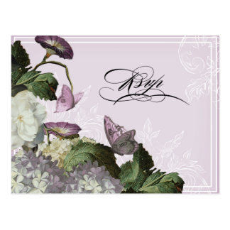Morning Glory Hydrangea -  Wedding Postcard RSVP