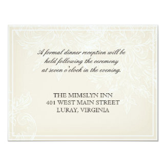 Morning Glory Hydrangea Wedding Reception Invite