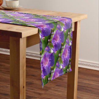 Morning Glory (Ipomoea Purpurea) Petals and Dew Short Table Runner