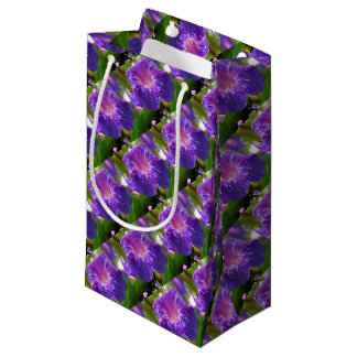 Morning Glory (Ipomoea Purpurea) Petals and Dew Small Gift Bag