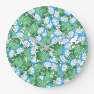 Morning Glory Japanese Flower Floral Clock