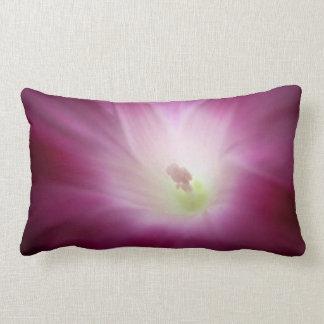 Morning Glory Pink Purple White Flower Lumbar Pillow