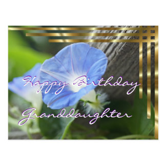 Morning Glory Postcard for any occasion- customize