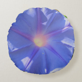 Morning Glory Round Pillow