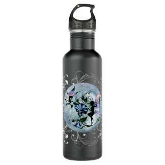 Morning Glory Shadow Fairy and Cosmic Cat 710 Ml Water Bottle