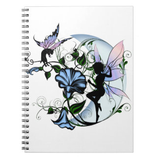 Morning Glory Shadow Fairy and Cosmic Cat Notebook