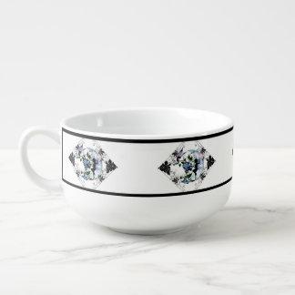 Morning Glory Shadow Fairy and Cosmic Cat Soup Mug