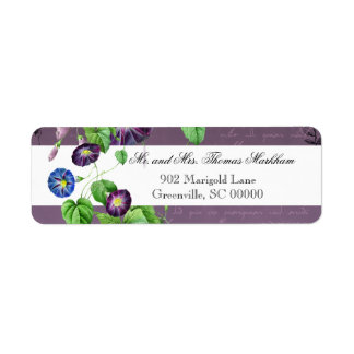 Morning Glory Summer Personalized Address Labels
