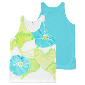 Morning Glory Tank Top w/ Blue Back