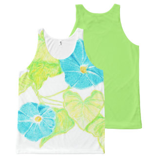 Morning Glory Tank Top w/ Green Back