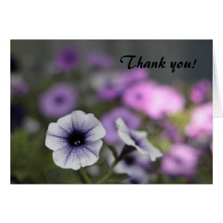 Morning glory thank you card