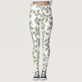 Morning Glory Vine Flowers All Over Print Leggings