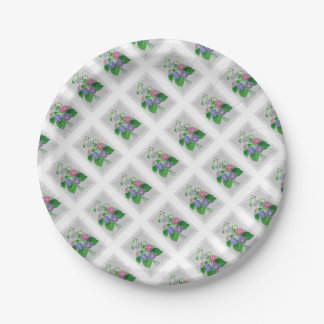 Morning Glory Vintage Bouquet Paper Plate