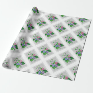Morning Glory Vintage Bouquet Wrapping Paper
