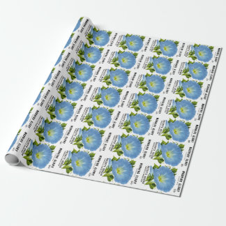 Morning Glory Vintage Seed Packet Wrapping Paper
