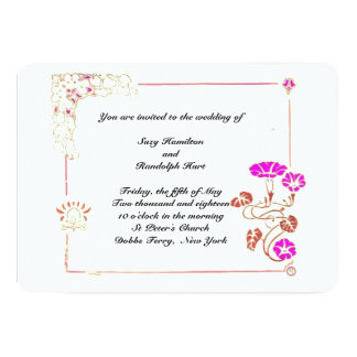 Morning Glory Wedding Invitation