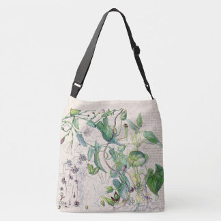 Morning Glory Wildflower Flowers Tote Bag